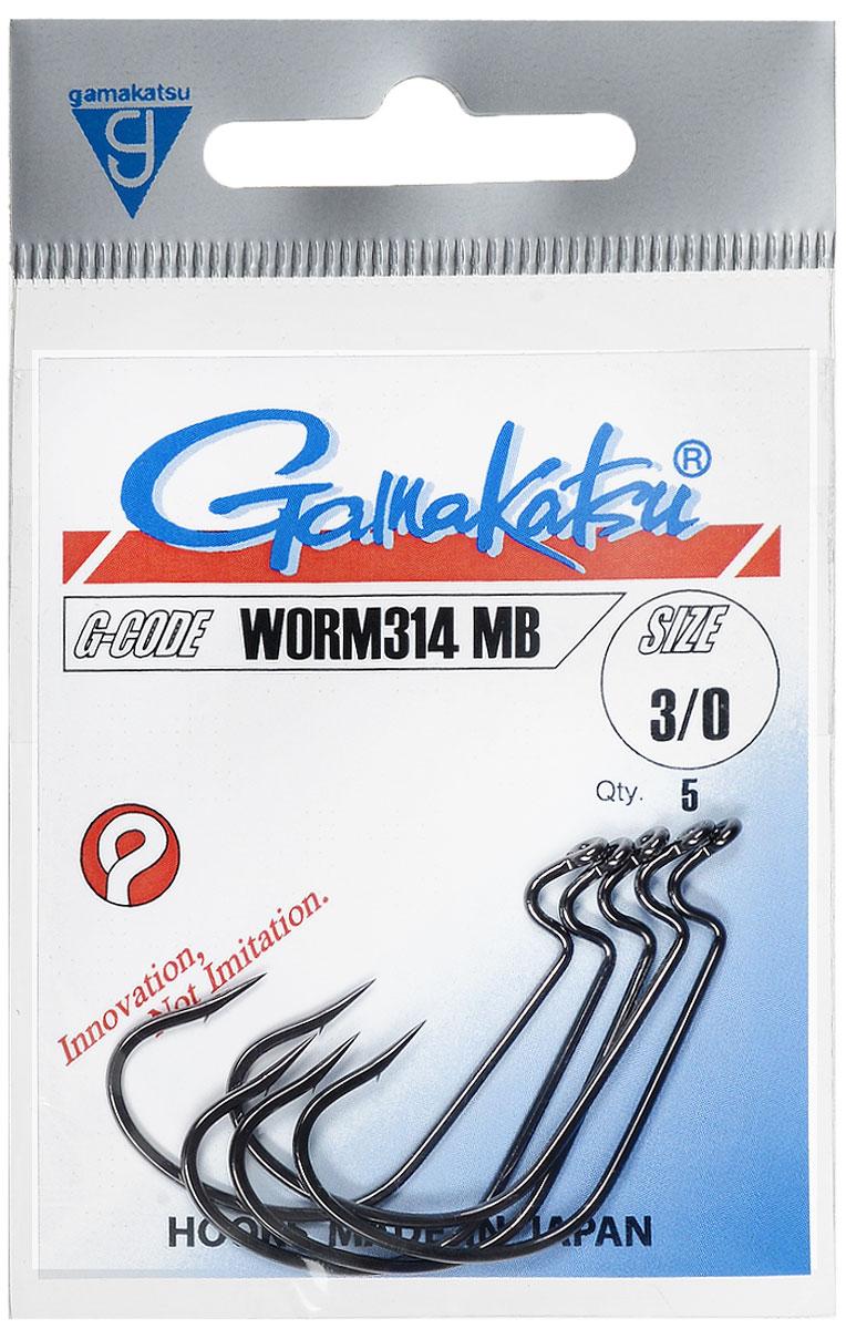 Крючок рыболовный Gamakatsu Worm314 MB, размер 3/0, 5 шт14739600300Крючок Gamakatsu Worm314 MB прекрасно подойдет для ловли крупной рыбы. Изделие изготовлено из высококачественной стали и имеет длинное изогнутое цевье. Крючок идеально справляется с любой рыбой как на море, так и на спокойной воде. Размер: 3/0. Количество: 5 шт. Вид головки: кольцо.