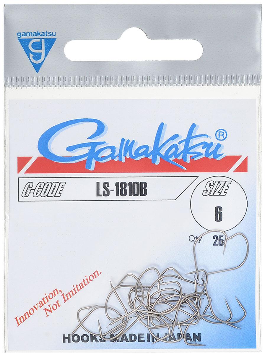 Крючок рыболовный Gamakatsu LS-1810B, №6, 25 шт14654800600Крючок Gamakatsu LS-1810B - это крючок с лопаткой, удлиненным цевьем и острым изгибом. Выполненные из высококачественной стали крючки на 20% надежнее и мощнее по сравнению с большинством аналогов. Размер крючка: №6. Вид крепления: лопатка. Количество штук в упаковке: 25 штук.