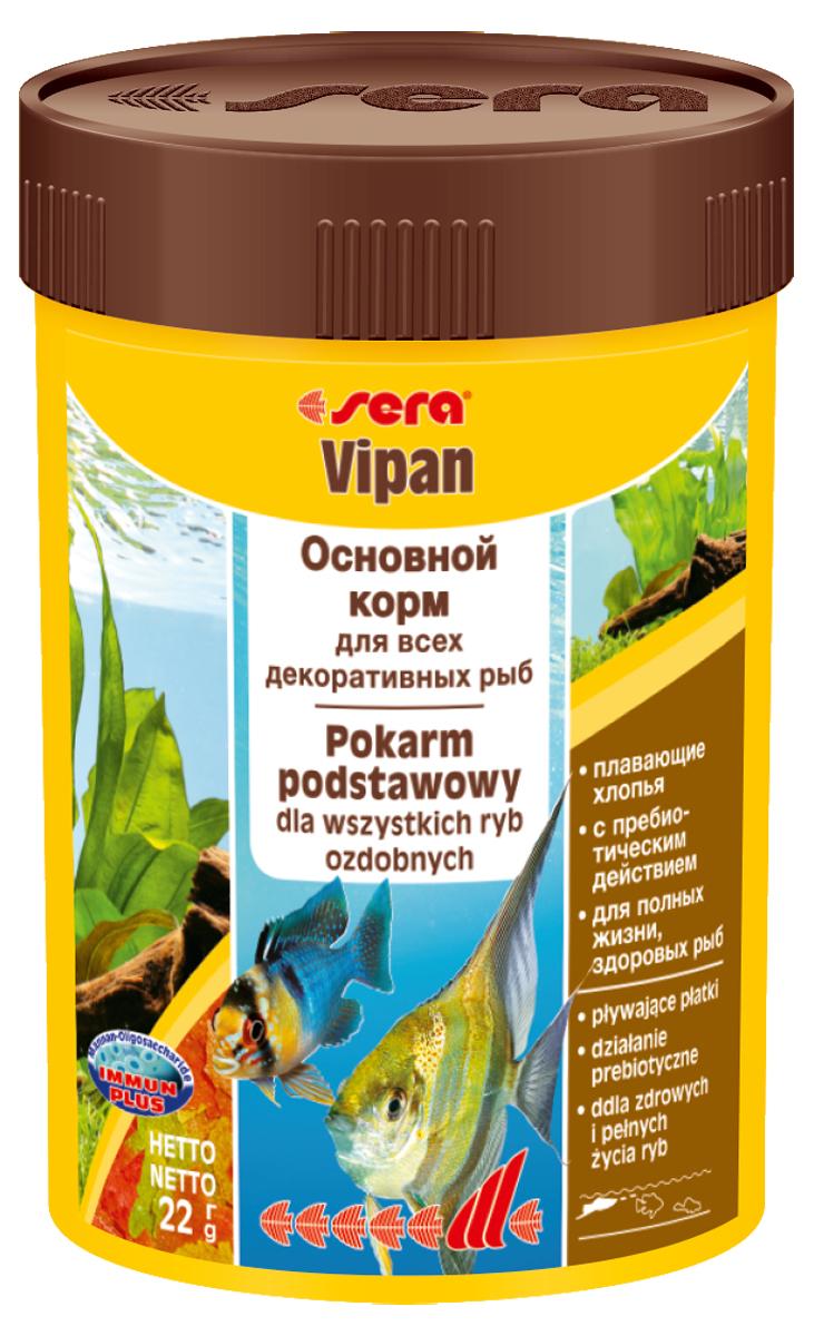 Корм для рыб Sera Vipan, 100 мл (22 г)0140Основной хлопьевидный корм для декоративных рыб в аквариумах со смешанным сообществом. Сбалансированный состав удовлетворяет потребности множества видов. Бережная обработка гарантирует сохранение ценных ингредиентов (например, жирных кислот Омега, витаминов и минералов). Метод его приготовления, применяемый фирмой sera, позволяет хлопьям сохранять свою форму в течение длительного времени, не загрязняя воду. Благодаря уникальной очень высокой степени измельчения, хлопья в тоже время очень нежны и поэтому охотно поедаются рыбой. Ингредиенты: рыбная мука, пшеничная мука, пивные дрожжи, казеинат кальция, гаммарус, яичный порошок, рыбий жир, маннан-олигосахарид (MOS 0,4%), спирулина, травы, люцерна, крапива, мука мука из зеленых губчатых молюсков, водоросли, зелень петрушки, перец, шпинат, чеснок, морковь. красители, разрешенные в ЕС. Кач. состав на кг: протеины 46,2%, жиры: 8,9%, клетчатка: 2,3%, зола: 11,9%, влажность: 6,7%, Вит А: 37000МЕ, Вит В1: 35мг, Вит В2: 90мг, Вит С: 550мг, Вит...