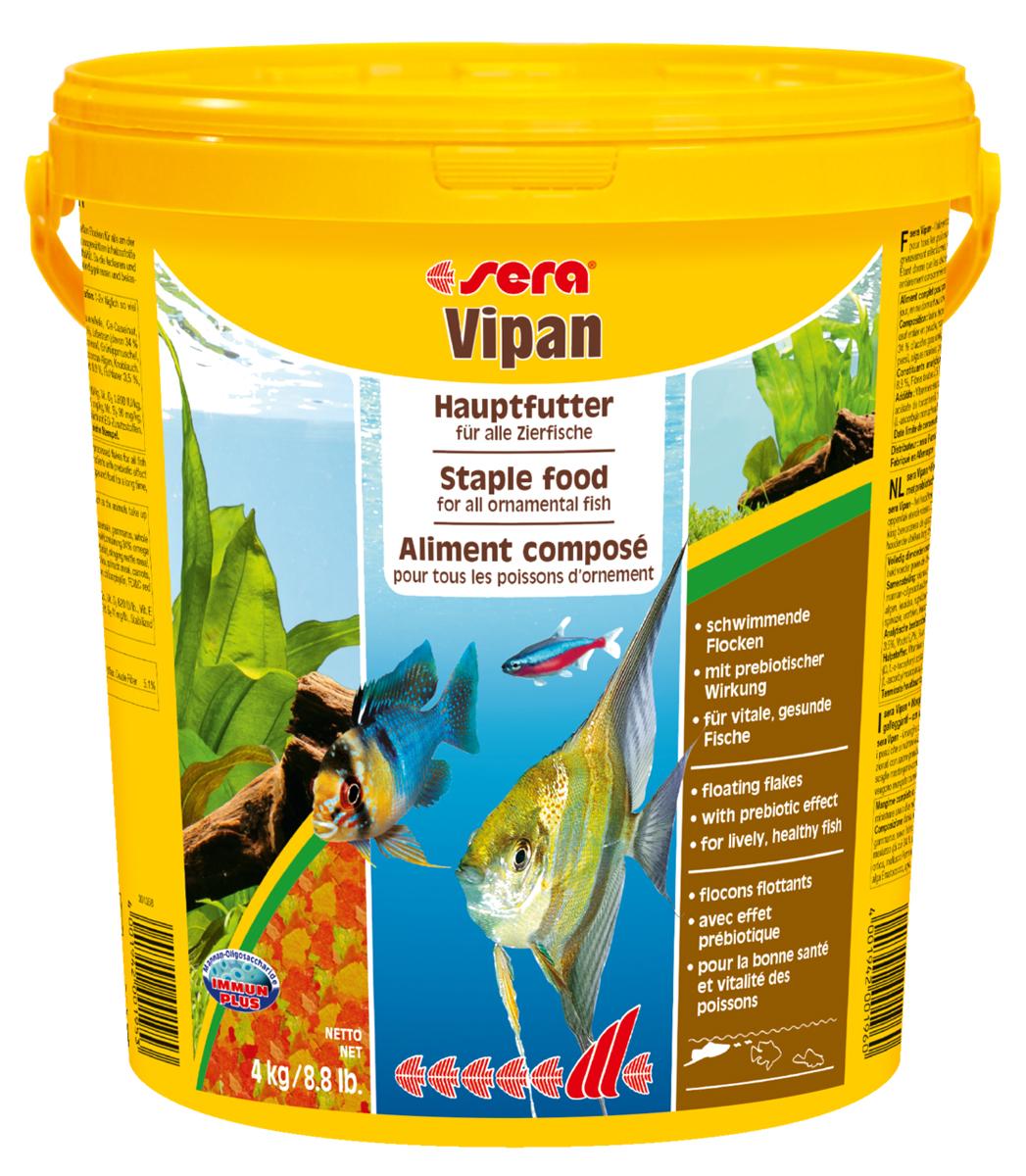 Корм для рыб Sera Vipan, 21 л (4 кг)0195Основной хлопьевидный корм для декоративных рыб в аквариумах со смешанным сообществом. Сбалансированный состав удовлетворяет потребности множества видов. Бережная обработка гарантирует сохранение ценных ингредиентов (например, жирных кислот Омега, витаминов и минералов). Метод его приготовления, применяемый фирмой sera, позволяет хлопьям сохранять свою форму в течение длительного времени, не загрязняя воду. Благодаря уникальной очень высокой степени измельчения, хлопья в тоже время очень нежны и поэтому охотно поедаются рыбой. Ингредиенты: рыбная мука, пшеничная мука, пивные дрожжи, казеинат кальция, гаммарус, яичный порошок, рыбий жир, маннан-олигосахарид (MOS 0,4%), спирулина, травы, люцерна, крапива, мука мука из зеленых губчатых молюсков, водоросли, зелень петрушки, перец, шпинат, чеснок, морковь. красители, разрешенные в ЕС. Кач. состав на кг: протеины 46,2%, жиры: 8,9%, клетчатка: 2,3%, зола: 11,9%, влажность: 6,7%, Вит А: 37000МЕ, Вит В1: 35мг, Вит В2: 90мг, Вит С: 550мг, Вит...