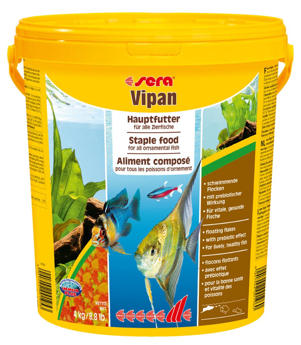 Корм для рыб Sera Vipan, в форме крупных хлопьев, 21 л (4 кг)0196Основной хлопьевидный корм для декоративных рыб в аквариумах со смешанным сообществом. Сбалансированный состав удовлетворяет потребности множества видов. Бережная обработка гарантирует сохранение ценных ингредиентов (например, жирных кислот Омега, витаминов и минералов). Метод его приготовления, применяемый фирмой sera, позволяет хлопьям сохранять свою форму в течение длительного времени, не загрязняя воду. Благодаря уникальной очень высокой степени измельчения, хлопья в тоже время очень нежны и поэтому охотно поедаются рыбой. Ингредиенты: рыбная мука, пшеничная мука, пивные дрожжи, казеинат кальция, гаммарус, яичный порошок, рыбий жир, маннан-олигосахарид (MOS 0,4%), спирулина, травы, люцерна, крапива, мука мука из зеленых губчатых молюсков, водоросли, зелень петрушки, перец, шпинат, чеснок, морковь. красители, разрешенные в ЕС. Кач. состав на кг: протеины 46,2%, жиры: 8,9%, клетчатка: 2,3%, зола: 11,9%, влажность: 6,7%, Вит А: 37000МЕ, Вит В1: 35мг, Вит В2: 90мг, Вит С: 550мг, Вит...