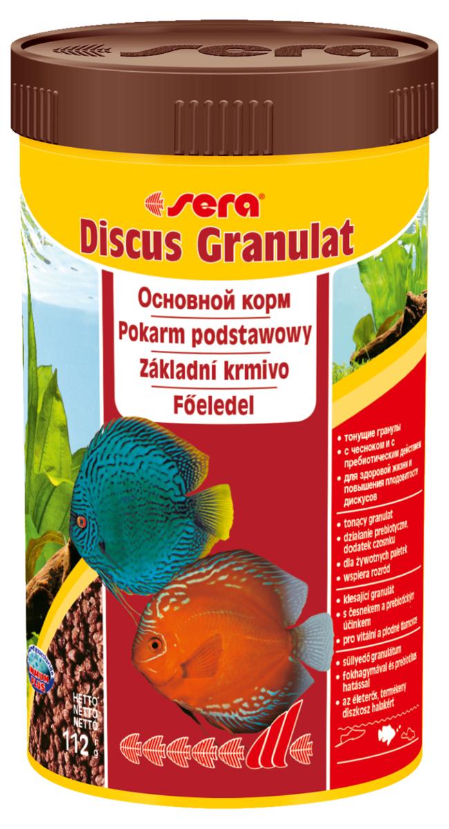 Корм для рыб Sera Discus Granulat, 250 мл (116 г)0305Основной корм – тонущие гранулы – c чесноком и с пребиотическим действием – для здоровой жизни и повышения плодовитости дискусов. Состоит из мягких гранул, произведенных путем бережной обработки сырья. В состав корма входят ингредиенты, богатые минералами и хорошо усвояемые белки. Благодаря этому кормление этим кормом способствует здоровому росту рыбы, повышает ее плодовитость и устойчивость к болезням. Тонущие гранулы, надолго сохраняют свою форму в воде, не загрязняя ее, великолепно усваиваются организмом рыб. Инструкция по применению: Кормить один-два раза в день, но только в том количестве, которое рыбы могут съесть в течение короткого периода времени. Ингредиенты: рыбная мука (43%), пшеничная мука, пшеничные зародыши (10%), пивные дрожжи, казеинат кальция, спирулина, пшеничная клейковина, рыбий жир (в т.ч. 49% Омега жирных кислот), криль, гаммарус, водоросль гематококкус (0,5%), маннанолигосахариды (0,4%), зеленые мидии, крапива, растительное сырье, люцерна, чеснок (0,1%),...