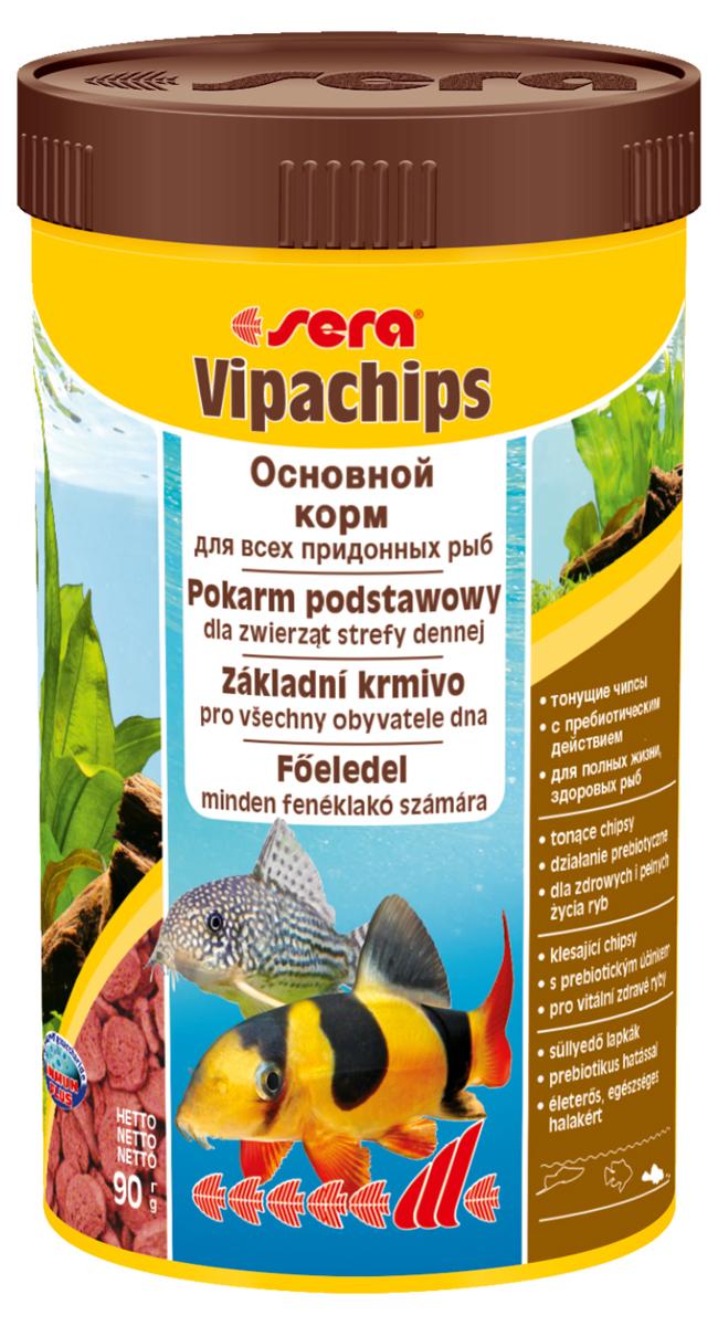 Корм для рыб Sera Vipachips, 250 мл (90 г)0515Основной корм, состоит из чипсов, произведенных путем бережной обработки сырья. Это идеальный корм для всех видов рыб, ориентированных на придонное кормление. Тщательно подобранные ингредиенты корма с пребиотическим действием способствуют здоровью и жизнестойкости рыб. Быстро тонущие чипсы становятся мягкими в воде, однако при этом надолго сохраняют свою форму, и таким образом, не загрязняя воду, оптимально удовлетворяют потребностям рыб, ориентированных на придонное кормление. Инструкция по применению: Кормить экономно один раз в день. Ночных животных желательно кормить вечером. Ингредиенты: рыбная мука, пшеничная мука, кукурузный крахмал, пшеничные зародыши, пивные дрожжи, цельный яичный порошок, сухое молоко, рыбий жир (в т.ч. 49% Омега жирных кислот), криль, маннанолигосахариды (0,4%), растительное сырье, люцерна, крапива, петрушка, морские водоросли, паприка, спирулина, зеленые мидии, шпинат, морковь, водоросль гематококкус, чеснок. Аналитический состав: Протеин 33,5%, Жиры 7,5%,...