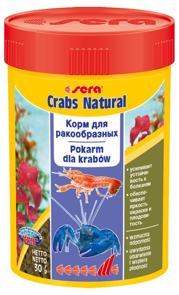 Корм для раков и крабов Sera Crabs Natural, 100 мл (30 г)0556Комплексный корм для ракообразных в пресноводных и морских аквариумах - тонущие колечки, стабильно сохраняющие форму в воде. Их состав обеспечивает устойчивость к болезням, способствует плодовитости аквариумных ракообразных и поддерживает их насыщенную окраску. Инструкция по применению: Кормить экономно один раз в день. Ингредиенты: рыбная мука, кукурузный крахмал, пшеничная мука, спирулина, пивные дрожжи, пшеничные зародыши, гаммарус, казеинат кальция, морские водоросли, крапива, кора ивы, ольховые шишки, рыбий жир (в т.ч. 49% Омега жирных кислот), маннанолигосахариды (0,4%), растительное сырье, люцерна, петрушка, паприка, зеленые мидии, шпинат, морковь, водоросль гематококкус, чеснок. Аналитический состав: Протеин 36,7%, Жиры 11,1%, Клетчатка 4,5%, Влажностъ 5,2%, Зольные вещества 8,6%, Кальций 1,9%, Фосфор 1,0%. Содержание добавок: витамин A 37.000 IU/kg, витамин D3 1.800 lU/kg, витамин E (D, L-a-tocopheryl acetate) 120 mg/kg, витамин B1 35 mg/kg, витамин B2 90 mg/kg, стаб. витамин...