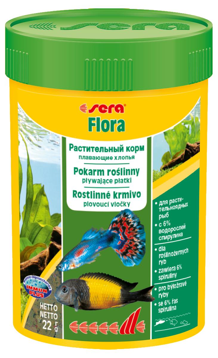 Корм для рыб Sera Flora, 100 мл (22 г)0640Растительный корм – плавающие хлопья – для растительноядных рыб – с 6% водорослей спирулина – для сбалансированного питания. Состоит из хлопьев, произведенных путем бережной обработки сырья. Это идеальный корм для всех видов рыб, кормящихся у поверхности воды. Тщательно подобранные ингредиенты корма, богатые балластными веществами, такими как водоросль спирулина, способствуют здоровому пищеварению и жизнестойкости рыб. Хлопья долго плавают, сохраняя свою форму, поэтому они поедаются полностью и не загрязняют воду. Инструкция по применению: Кормить один-два раза в день, но только в том количестве, которое рыбы могут съесть в течение короткого периода времени. Ингредиенты: рыбная мука, пшеничная мука, пивные дрожжи, казеинат кальция, спирулина (6%), гаммарус, морские водоросли, цельный яичный порошок, крапива, люцерна, растительное сырье, маннанолигосахариды (0,4%), жир из печени рыбы (в т.ч. 34% Омега жирных кислот), петрушка, паприка, зеленые мидии, шпинат, морковь, водоросль...
