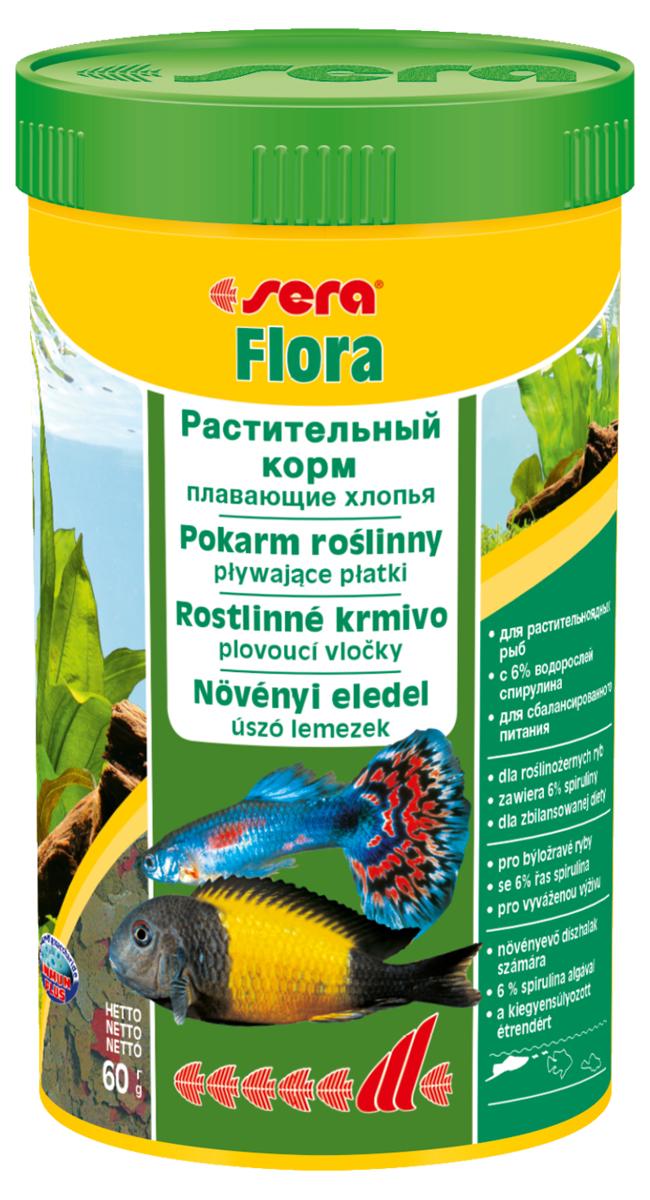 Корм для рыб Sera Flora, 250 мл (60 г)0650Растительный корм – плавающие хлопья – для растительноядных рыб – с 6% водорослей спирулина – для сбалансированного питания. Состоит из хлопьев, произведенных путем бережной обработки сырья. Это идеальный корм для всех видов рыб, кормящихся у поверхности воды. Тщательно подобранные ингредиенты корма, богатые балластными веществами, такими как водоросль спирулина, способствуют здоровому пищеварению и жизнестойкости рыб. Хлопья долго плавают, сохраняя свою форму, поэтому они поедаются полностью и не загрязняют воду. Инструкция по применению: Кормить один-два раза в день, но только в том количестве, которое рыбы могут съесть в течение короткого периода времени. Ингредиенты: рыбная мука, пшеничная мука, пивные дрожжи, казеинат кальция, спирулина (6%), гаммарус, морские водоросли, цельный яичный порошок, крапива, люцерна, растительное сырье, маннанолигосахариды (0,4%), жир из печени рыбы (в т.ч. 34% Омега жирных кислот), петрушка, паприка, зеленые мидии, шпинат, морковь, водоросль...
