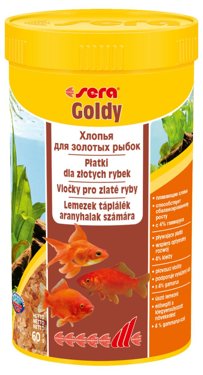 Корм для рыб Sera Goldy, 250 мл (60 г)0850Основной корм, состоит из плавающих хлопьев, произведенных путем бережной обработки сырья; предназначен для небольших золотых рыбок. Благодаря тщательно подобранным ингредиентам растительного и животного происхождения, корм является привлекательным для рыб, легко усваивается, способствует их сбалансированному росту и активности. Инструкция по применению: Кормить круглогодично один-два раза в день, но только в том количестве, которое рыбы могут съесть в течение короткого периода времени. Молодые рыбки нуждаются в более частом кормлении (при необходимости можно измельчить хлопья для более полноценного кормления). Ингредиенты: рыбная мука, пшеничная мука, пивные дрожжи, казеинат кальция, гаммарус (4%), маннанолигосахариды (0,4%), зеленые мидии, чеснок, крапива, люцерна, растительное сырье, петрушка, морские водоросли, паприка, спирулина, шпинат, морковь. Аналитический состав: Протеин 48,6%, Жиры 8,1%, Клетчатка 3,9%, Влажность 5,0%, Зольные вещества 11,1%. Содержание добавок: Витамины и...