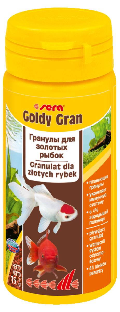 Корм для рыб Sera Goldy Gran, 50 мл (15 г)0863Комплексный корм для холодноводных рыб (аквариумных и прудовых) - идеальный основной корм для золотых рыбок. Плавающие гранулы корма, благодаря их высококачественным ингредиентам, обеспечивают всеми необходимыми питательными веществами даже самые привередливые виды рыб. Входящие в состав корма зародыши пшеницы гарантируют высокую усваиваемость корма, в том числе при низких температурах. Рыбы, таким образом, растут и остаются здоровыми без перекармливания. Инструкция по применению: Кормите небольшими порциями один-два раза в день, в течение всего года. Дозируйте такое количество корма, которое рыбы могут съесть в течение короткого периода времени. Ингредиенты: рыбная мука, кукурузный крахмал, пшеничная мука, пшеничные зародыши (4%), пшеничная клейковина, рыбий жир, пивные дрожжи, маннанолигосахариды (0,4%), криль, зеленые мидии, чеснок. Аналитический состав: Протеин 33,0%, Жиры 7,2%, Клетчатка 4,8%, Влажность 5,4%, Зольные вещества 5,8%. Содержание добавок: Витамины и провитамины: Вит....