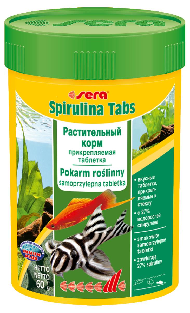 Корм для рыб Sera Spirulina Tabs, 100 мл (60 г), 100 таблеток0940Корм для рыб Sera Spirulina Tabs с высоким содержанием водоросли спирулина (27%) предназначен для пресноводных и морских животных; способствует их здоровому пищеварению и жизнестойкости. Корм также содержит отборные растительные ингредиенты, такие как планктон, морские водоросли, шпинат и ценные травы. Формула Vital-Immun-Protect гарантирует рыбам прекрасное здоровье, укрепление иммунитета и обилие жизненных сил. Таблетка прикрепляется к стеклянной стенке аквариума легким нажатием пальца. Инструкция по применению: Кормить один-два раза в день, но только в том количестве, которое рыбы могут съесть в течение короткого периода времени. Ингредиенты: спирулина (27%), рыбная мука, пшеничная мука, пивные дрожжи, казеинат кальция, криль, крапива, сухое молоко, гаммарус, морские водоросли, сахар, цельный яичный порошок, маннанолигосахариды (0,4%), растительное сырье, люцерна, жир из печени рыбы (34% Омега жирных кислот), петрушка, паприка, зеленые мидии,...