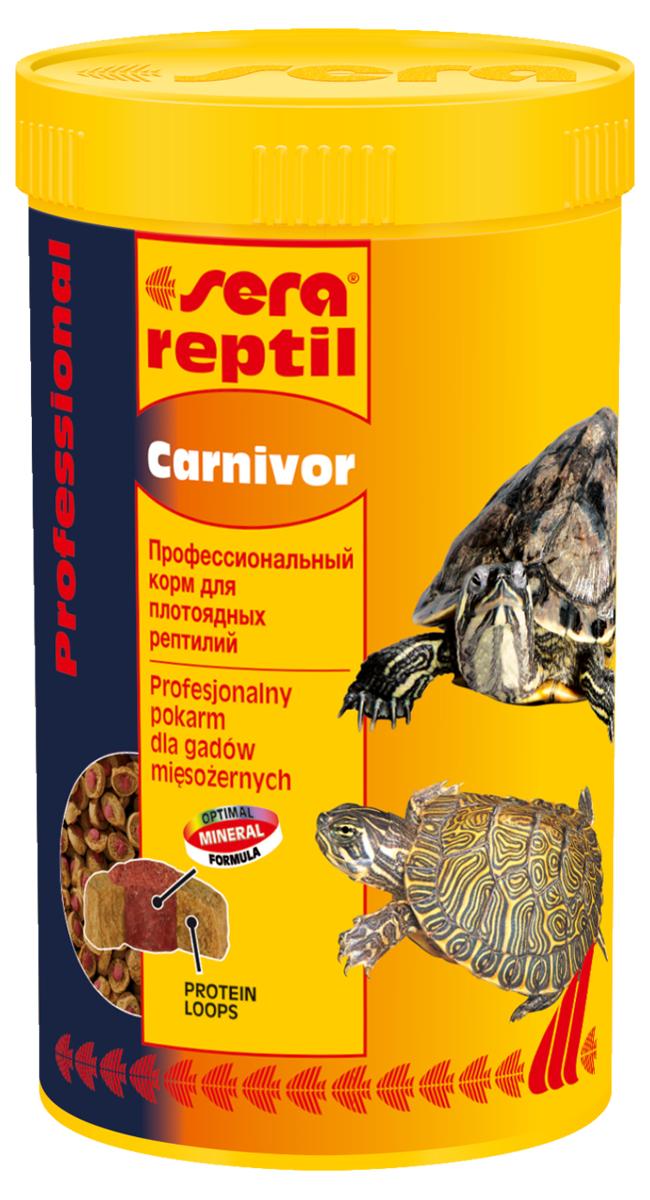 Корм для рептилий Sera Reptil Professional Carnivor, 250 мл (85 г)1820Корм для рептилий Sera Reptil Professional Carnivor - комплексный корм для водных черепах и других плотоядных рептилий, произведенный методом коэкструзии. Инновационный коэкструдат объединяет в себе вкусную оболочку - кольцо, в котором содержатся высококачественные белки и жиры, и сердцевину, произведенную с помощью щадящего низкотемпературного процесса, сохраняющего ценные питательные вещества, с высоким содержанием необходимых витаминов, минералов и других жизненно важных веществ. Оптимальное соотношение кальция и фосфора обеспечивает здоровый рост костей и панциря животных. Инструкция по применению: Кормить экономно. Смешать со свежим кормом в соответствии с потребностями животных. Ингредиенты: рыбная мука, кукурузный крахмал, пшеничная клейковина, пшеничная мука, пивные дрожжи, цельный яичный порошок, рыбий жир, гаммарус, морские водоросли, зеленые мидии, криль, чеснок. Аналитический состав: протеин 37,4%, жиры 6,2%, клетчатка 5,6%, влажность...