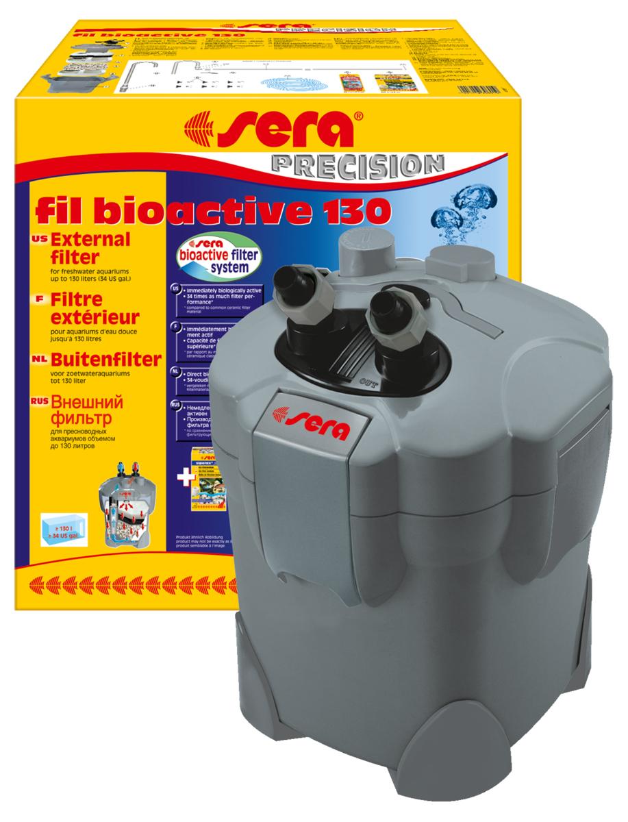 Фильтр аквариумный внешний Sera Fil Bioactive 13030601Фильтр аквариумный внешний Sera Fil Bioactive - многоцелевой, удобный и простой в использовании внешний фильтр для пресноводных аквариумов. Этот мощный и при этом экономящий энергию внешний фильтр с большим количеством принадлежностей готов к эксплуатации и немедленно биологически активен. Емкости для фильтрующих материалов гарантируют оптимальную послойную укладку фильтрующих материалов и простой доступ к ним. Входной и выходящий патрубки фильтров разработаны таким образом, что соединительные шланги могут отделяться для чистки с помощью разборных соединений с регулируемым вентилем. Надежный фильтр отличается тихой работой двигателя и длительным сроком службы. Поставляется с высокоэффективным фильтрующим материалом Sera siporax Professional и биологическим активатором Sera filter biostart.