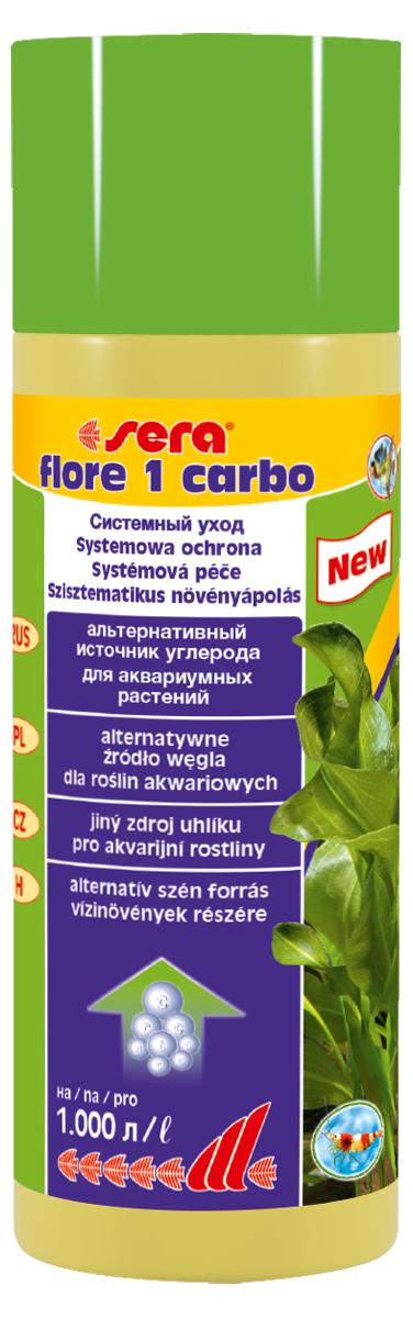 Удобрение для аквариумных растений Sera Flore 1 Carbo, 250 мл3342Дополнительный углерод для оптимального роста растений. Предоставляет различные эффективные источники углерода в жидком виде для активного удобрения и является, таким образом, неосложнённой альтернативой системе удобрения CO2; однако он может и дополнить ее.