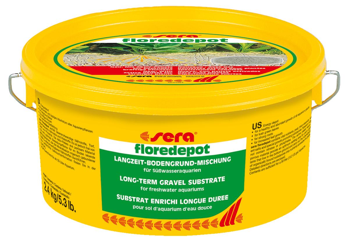 Грунт для аквариумных растений Sera Floredepot, 2,4 кг3375Питательный грунт длительного использования для водных растений в пресноводных аквариумах. Состоит из чистого промытого песка, специально подготовленного торфа, микроэлементов, питательных солей и других жизненно необходимых веществ. Инструкция по применению: Флоредепот используется при первом запуске аквариума. Грунт необходимо равномерно распределить по дну аквариума в той части, где впоследствии предполагается высадить водные растения. Примерный расчет: упаковка 2,4 кг для аквариумов до 60 л, упаковка 4.7 кг- до 100 л воды.