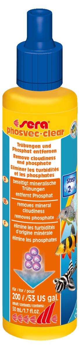 Средство для воды Sera Phosvec-Clear, 50 мл3391Кристально прозрачная вода без фосфатов: - Устраняет минеральное помутнение воды - Удаляет фосфаты – одно из основных питательных веществ для водорослей - Для чистой, кристально прозрачной воды Минеральные вещества, так же как и мертвый органический материал (детрит), могут вызывать помутнение аквариумной воды. Это может дополнительно увеличить концентрацию фосфатов в воде и, таким образом, способствовать разрастанию водорослей. sera PHOSVEC-CLEAR немедленно связывает частицы, вызывающие помутнение воды и, таким образом, делает возможным улавливание их фильтром. В тоже время он удаляет излишки фосфатов, чем предотвращает разрастание водорослей. Для постоянно чистой, кристально прозрачной воды.