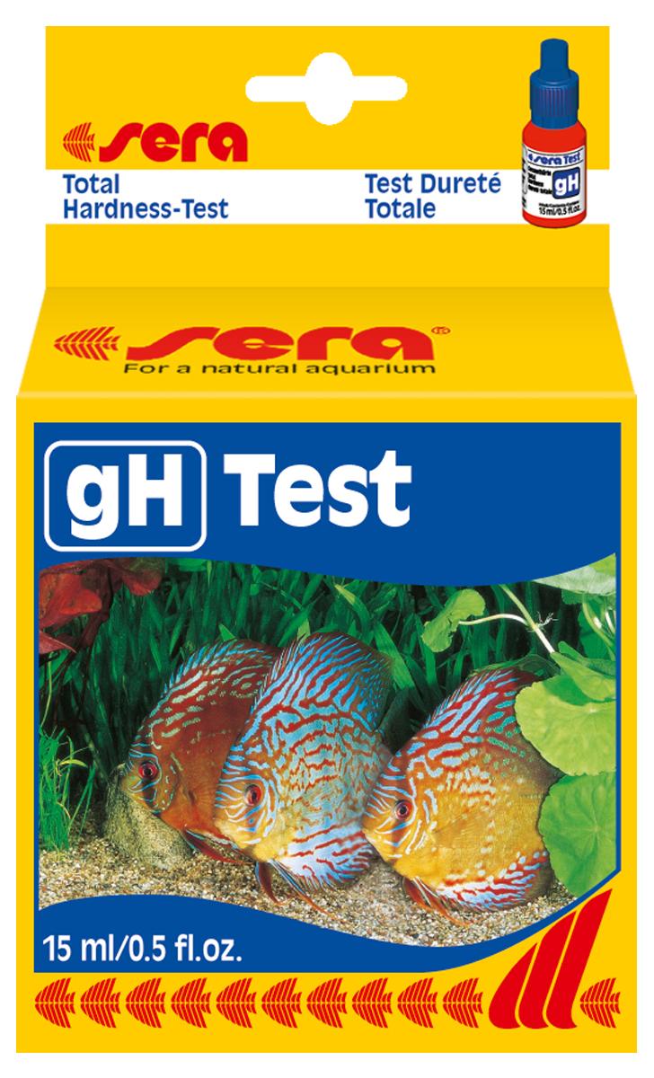 Тест для воды Sera gH-Test, 15 мл4110Жидкий тест для определения общей жесткости в пресноводном аквариуме. Во флаконе находится примерно 420 капель реагента (одна капля реагента соответствует одной единице общей жесткости в пробе тестируемой воды).