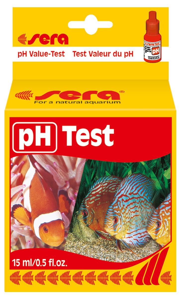 Тест для воды Sera pH-Test, 15 мл4310Для простого и точного определения pH-уровня в пресной и морской воде, а также в садовых прудах. Рассчитан на, приблизительно, 100 измерений.