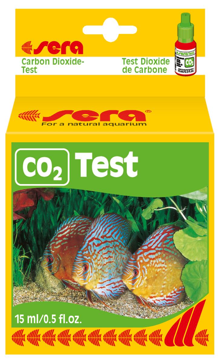 Тест для воды Sera СO2-Test, 15 мл4320sera CO2-тест длительного действия был разработан для постоянного контроля уровня содержания CO2 в воде. Сосуд с реагентом легко спрятать внутри аквариума; точный уровень содержания CO2 легко считывается. Достаточен для прибл. 90 заправок.