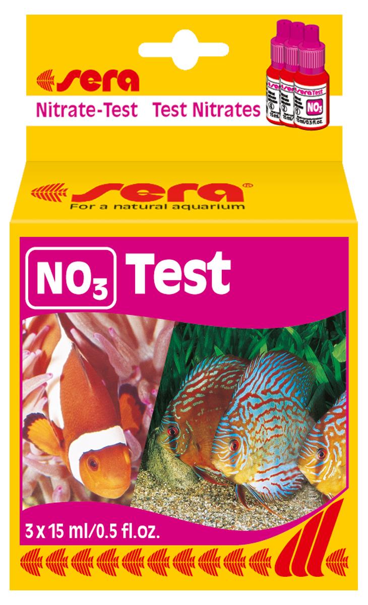 Тест для воды Sera NO3-Test, 15 мл4510Жидкий тест для определения концентрации нитратов в воде. Количество реагентов достаточно для проведения, приблизительно, 60 измерений.