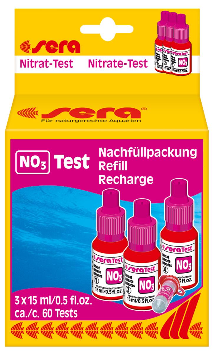Сменный реагент Sera NO3-Test, 15 мл, 3 шт4512Сменный реагент Sera NO3-Test предназначен для измерения уровня содержания нитратов в аквариумной воде. В наборе 3 флакона по 15 мл + порошок. Количество реагентов достаточно для проведения приблизительно 60 измерений.