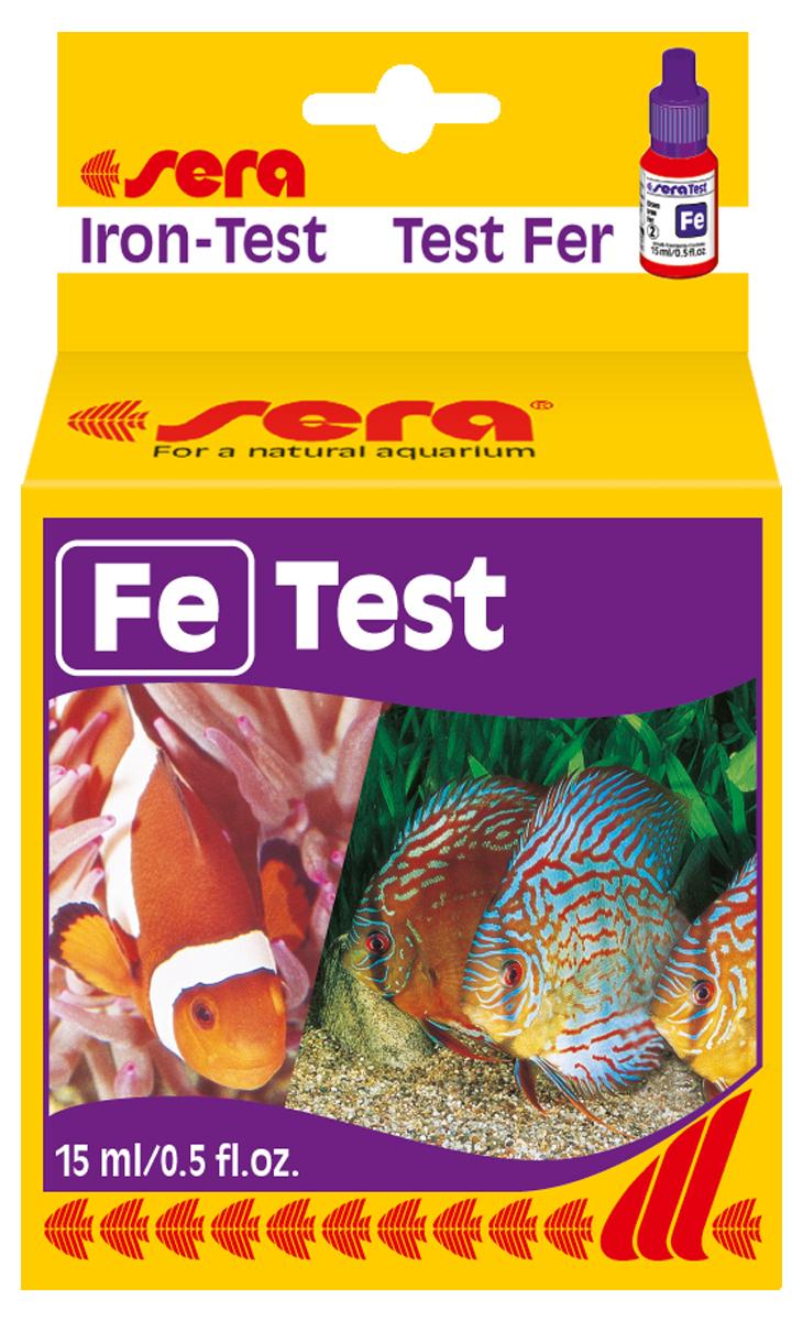 Тест для воды Sera Fe-Test, 15 мл4610Жидкий тест для определения концентрации железа в воде. Количества реагентов достаточно для проведения примерно 75 измерений.
