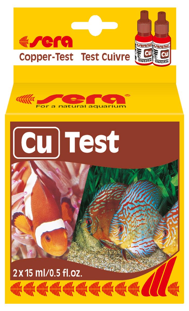 Тест для воды Sera Cu-Test, 15 мл4710Для проверки уровня меди в водопроводной воде, а также контроля её содержания при применении медесодержащих препаратов. Количества реагентов достаточно для проведения примерно 50 измерений.
