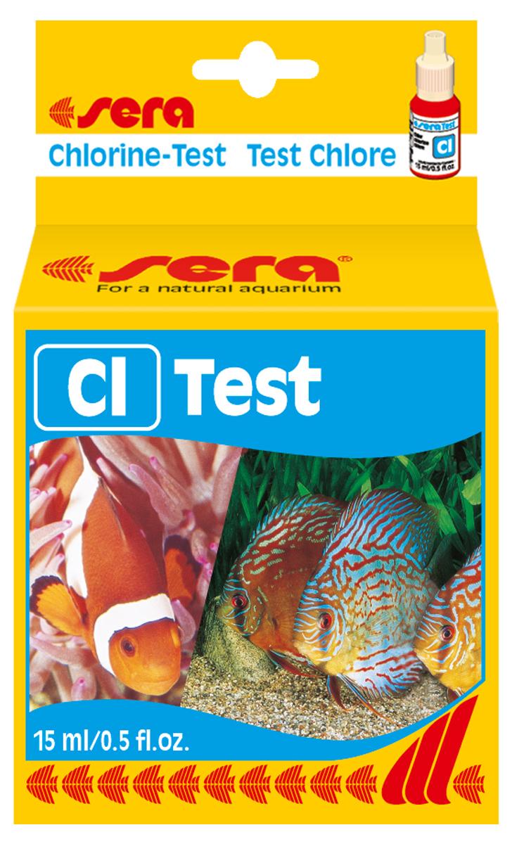 Тест для воды Sera Cl-Test, 15 мл4810Жидкий тест для определения содержания хлора в водопроводной воде. Количества реагента достаточно для проведения примерно 45 измерений.