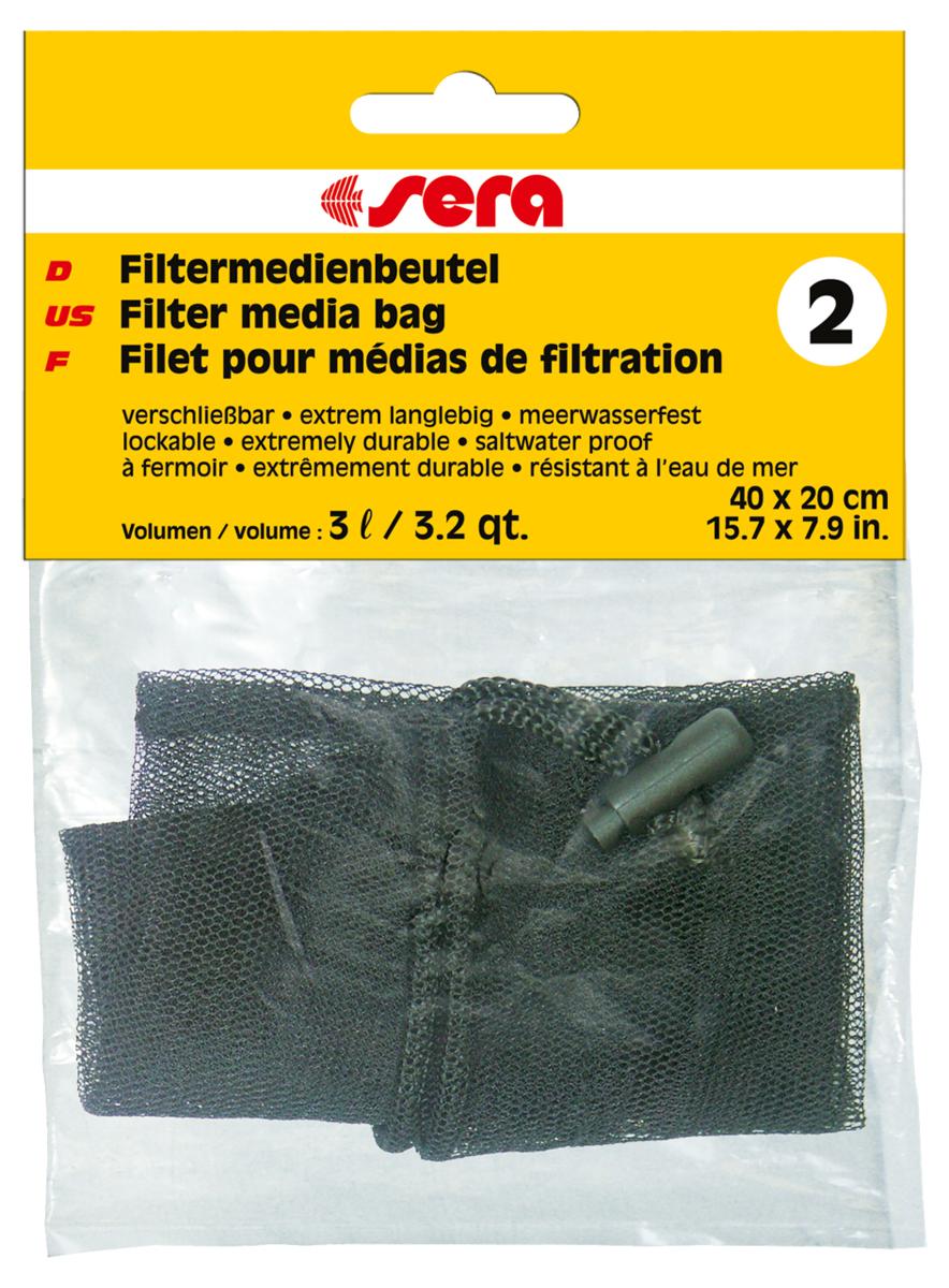 Сменный мешочек Sera №2, для фильтрующих наполнителей8494Мешочек для фильтрующих материалов: активированного угля, материалов для биологической фильтрации, торфа и т.п. Для многократного использования.