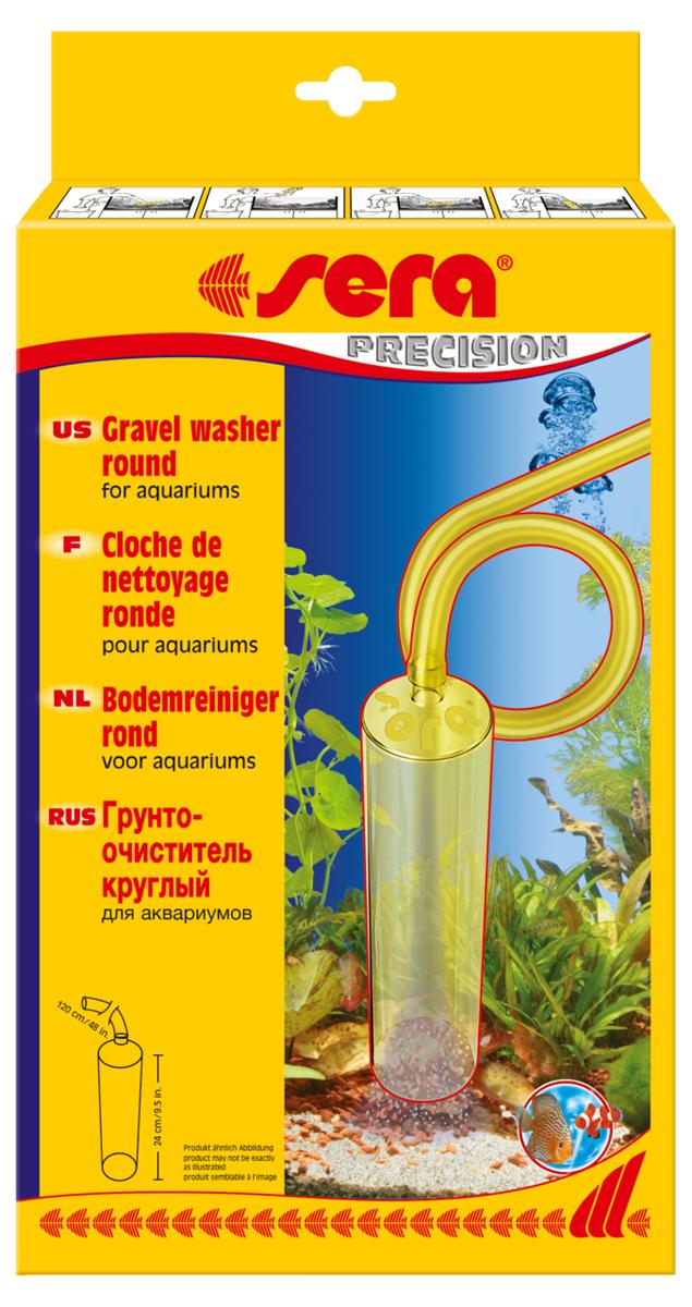 Грунтоочиститель Sera Gravel Washer, круглый8560Для существования здоровой флоры и фауны в аквариуме необходима регулярная подмена воды. Грунтоочиститель способен очень тщательно очищать грунт от отходов; прост в употреблении; благодаря своему большому диаметру позволяет удалять только отходы, оставляя даже мелкий гравий в аквариуме; в то же время помогает частично заменять и очищать воду; благодаря своему шлангу длиной 1,25м, позволяет беспрепятственно добраться до любого самого удаленного уголка аквариума; имеет непроницаемый корпус. Инструкцию по применению смотри на упаковке. Размер: высота 25 см, диаметр 5,7 см.