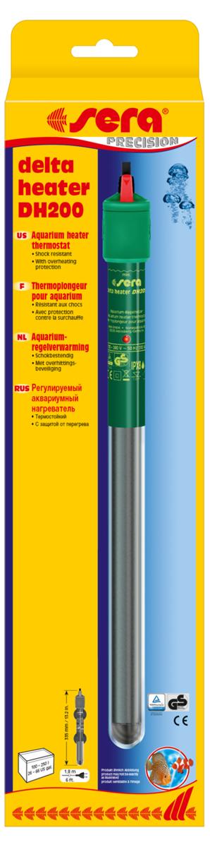 Нагреватель для аквариума Sera Delta Heater Dh, 200 Вт8706Термостойкие тонкого диаметра аквариумные нагреватели с защитой от перегрева. Sera delta нагреватели изготовлены из термостойкого стекла и, благодаря их относительно малому размеру, почти не занимают места в аквариуме. Нагреватели оснащены регулировкой температуры в диапазоне от 18 до 32° C. Дополнительная безопасность обеспечивается системой Защиты от перегрева. Она отключает нагреватель, если он оказывается вне воды. Отчетливо видимый индикатор информирует о рабочем состоянии прибора тремя различными цветами: зеленый (температура в порядке), красный (идет процесс нагрева), фиолетовый (защита от перегрева включена). Достаточно длинный электрический кабель (1,8 м) упрощает установку и позволяет подключить кабель так, чтобы он образовал петлю ниже уровня розетки, что предупредит попадание стекающей по кабелю воды в розетку.