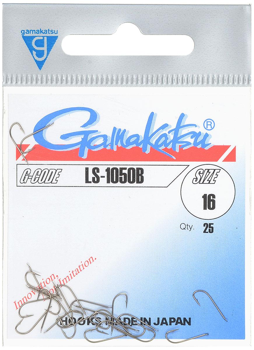 Крючок рыболовный Gamakatsu LS-1050B, №16, 25 шт14651701600Рыболовный крючок Gamakatsu LS-1050B изготовлен из стали, подходит для ловли плотвы. Крючок Gamakatsu LS-1050B - это крючок с лопаткой, удлиненным цевьем и острым изгибом. Выполненные из высококачественной стали, крючки на 20% надежнее и мощнее по сравнению с большинством аналогов. Размер крючка: №16. Вид крепления: лопатка. Количество штук в упаковке: 25 штук.