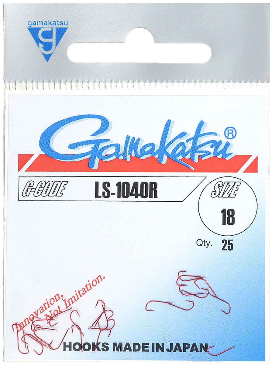 Крючок рыболовный Gamakatsu LS-1040R, №18, 25 шт14651601800Крючок Gamakatsu LS-1040R - это крючок с лопаткой, удлиненным цевьем и острым изгибом. Выполненные из высококачественной стали, крючки на 20% надежнее и мощнее по сравнению с большинством аналогов. Размер крючка: №18. Вид крепления: лопатка. Количество штук в упаковке: 25 штук.