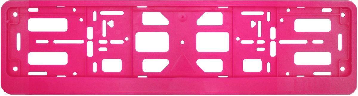 Рамка номерного знака Триада Classic, цвет: розовый10213Универсальное расположение отверстий позволяет устанавливать рамку на любых автомобилях, включая американские и японские; Элементы фиксации, расположенные по всему периметру рамки номера, дают возможность без каких-либо усилий крепить в ней номерной знак Рамка-книжка под автомобильный номер изготавливается из высококачественного полипропилена.