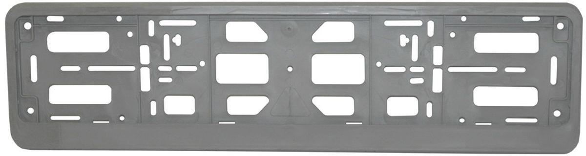 Рамка номерного знака Триада Lux, цвет: серебристый03577Универсальное расположение отверстий позволяет устанавливать рамку на любых автомобилях, включая американские и японские. Элементы фиксации, расположенные по всему периметру рамки номера, дают возможность без каких-либо усилий крепить в ней номерной знак Рамка-книжка под автомобильный номер изготавливается из высококачественного полипропилена.