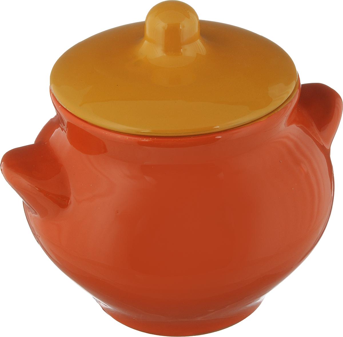 Горшочек для запекания Борисовская керамика Радуга, цвет: оранжевый, желтый, 550 млРАД00000328_оранжевый, жёлтыйГоршочек для запекания Борисовская керамика Радуга выполнен из высококачественной керамики. Уникальные свойства красной глины и толстые стенки изделия обеспечивают эффект русской печи при приготовлении блюд. Блюда, приготовленные в таком горшочке, получаются нежными и сочными. Вы сможете приготовить мясо, сделать томленые овощи и все это без капли масла. Это один из самых здоровых способов готовки. Диаметр горшка (по верхнему краю): 9,5 см. Высота стенок: 11 см.