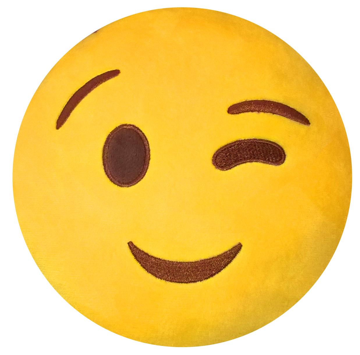 Подушка на подголовник Rexxon Подмигивание, цвет: желтый3-13-3-1-1Включает в себя функции подушки, подголовника, игрушки.