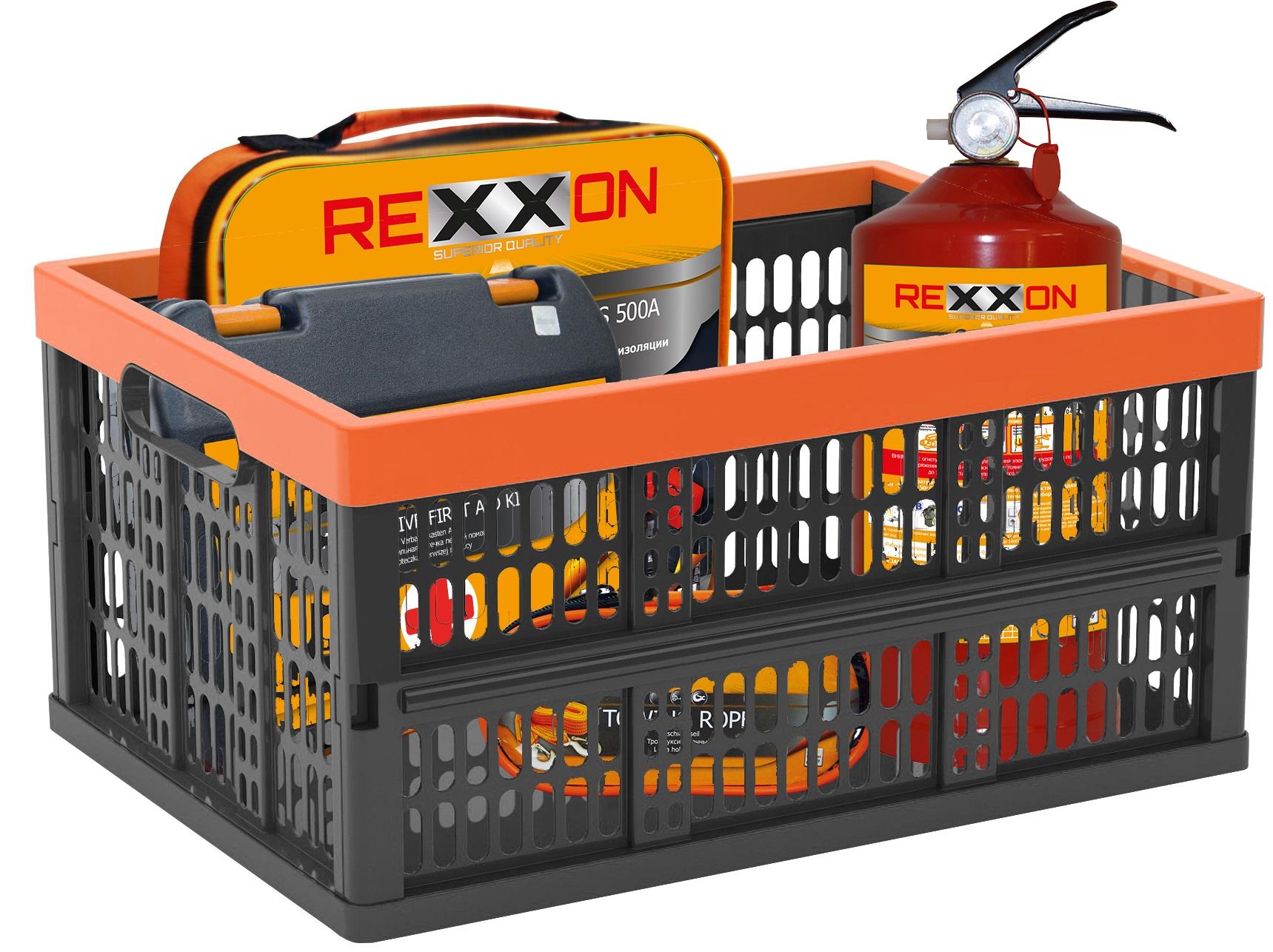 Органайзер автомобильный Rexxon, цвет: черный3-6-1-1-1Ящик Автомобильный скаладной 38 л. Предназначен для перевозки автопринадлежностей в багажнике автомобиля. Ёмкость ящика 38 л., весовая нагрузка 20 кг