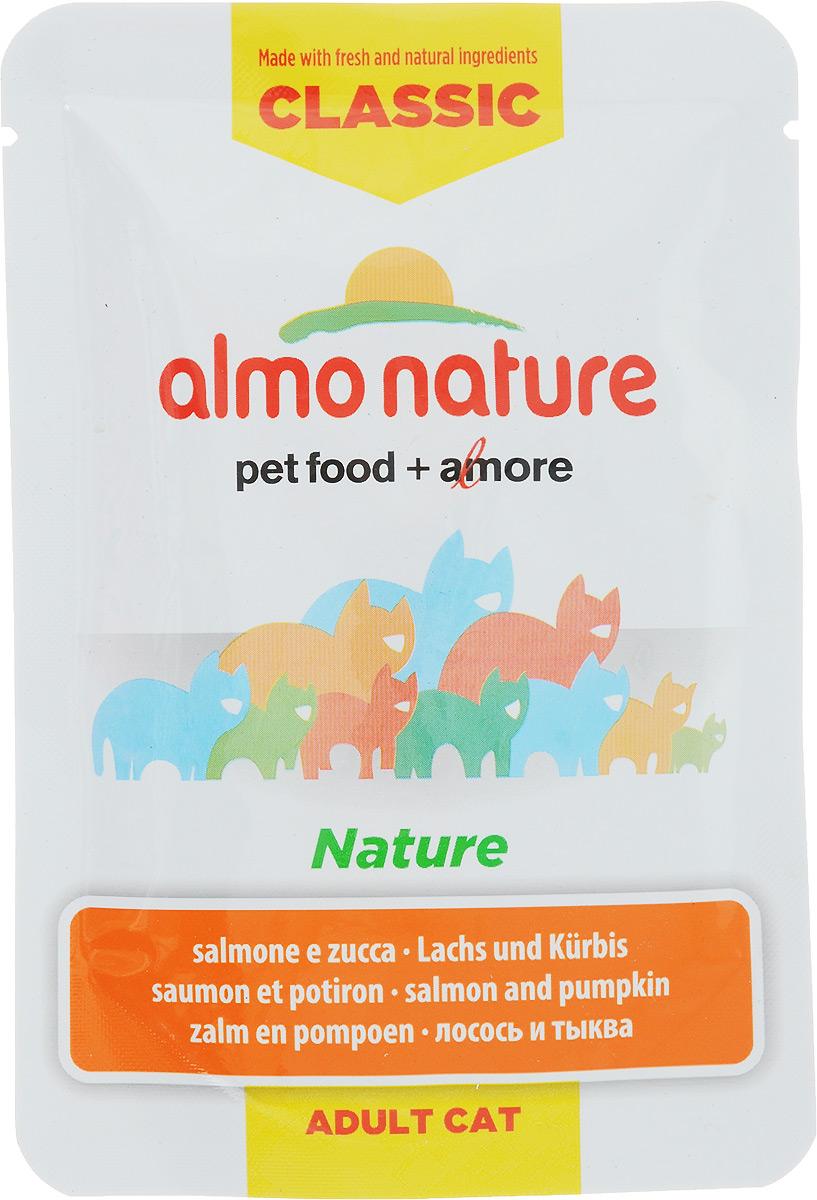 Консервы для кошек Almo Nature Classic, с лососем и тыквой, 55 г20057Almo Nature - высококачественный консервированный корм, приготовленный по уникальной рецептуре. Корм содержит высококачественную рыбу, приготовленную в собственном бульоне с добавлением тыквы и риса. Бережная обработка продуктов без добавления химических или каких-либо других ингредиентов позволяет сохранить питательную ценность и первоначальный вкус. Особенности: - входящие в состав ингредиенты соответствуют стандарту Human Grade (качество как для людей); - превосходный аромат и восхитительный вкус; - высокая питательная ценность; - является натуральным источником воды и питательных веществ; - корм не содержит субпродукты, ГМО, антибиотиков, химических добавок, консервантов и красителей. Состав: лосось 38%, бульон из лосося 47%, тыква 12%, рис 3%. Гарантированный анализ: Белки - 10%, Клетчатка - 0,1%, Жиры - 0,2%, Зола - 1,5%, Влажность - 87%. Калорийность - 332 ккал/кг. Товар сертифицирован.
