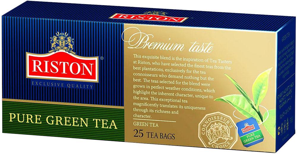 Riston Green зеленый чай в пакетиках, 25 шт4792156001777Зеленый чай Riston высшей категории с насыщенным терпким вкусом и изысканным ароматом. Мягкий золотистый настой напитка помогает расслабиться и почувствовать отдохновение после длинного насыщенного дня.