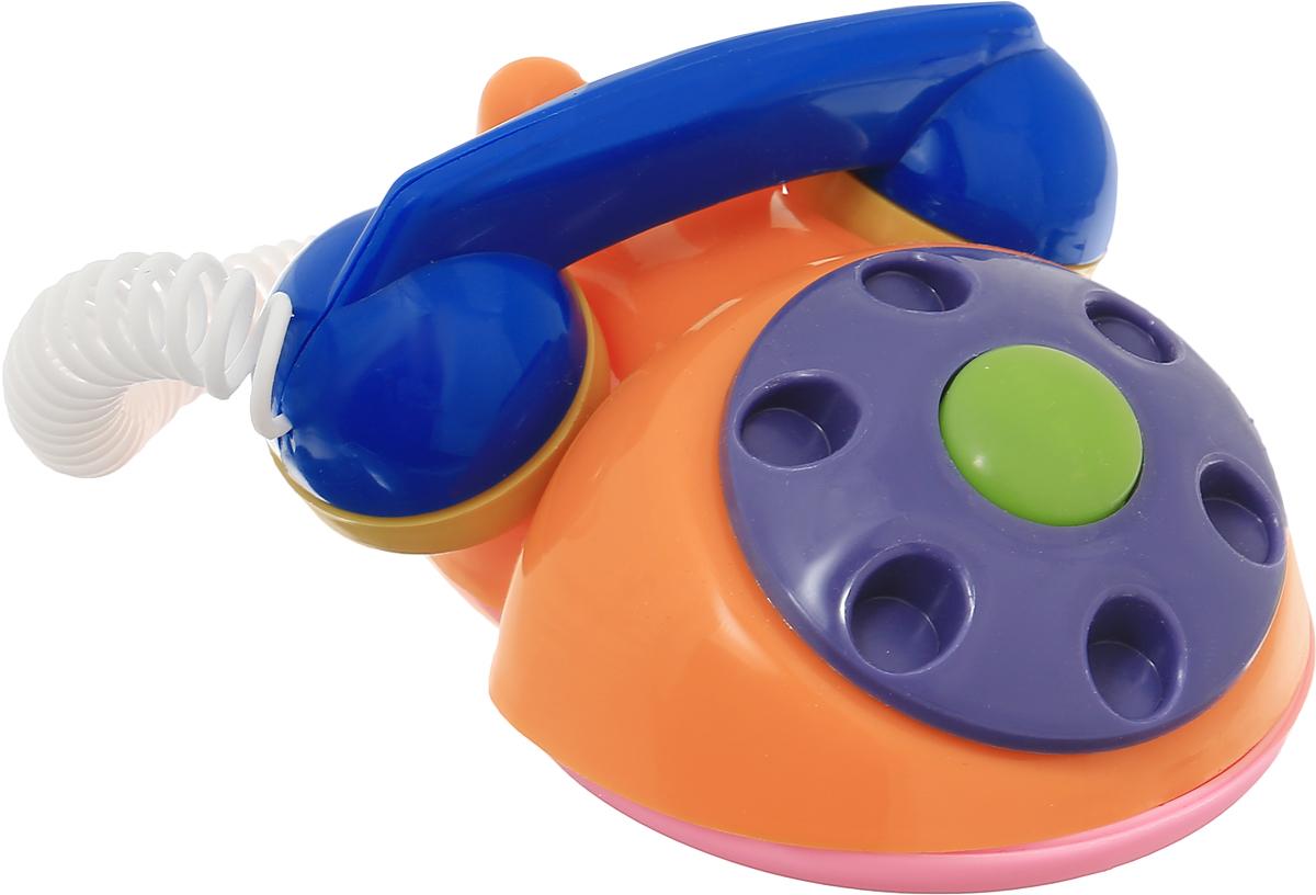 Аэлита Развивающая игрушка Телефон детский цвет оранжевый фиолетовый