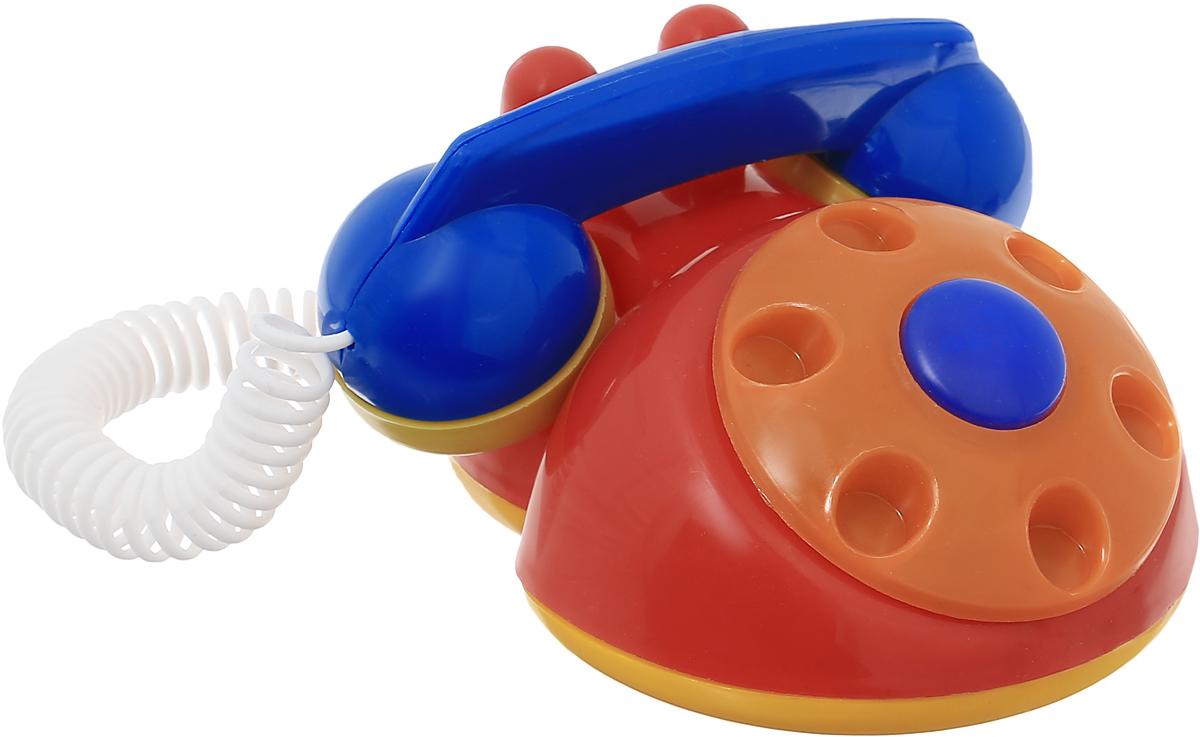 Аэлита Развивающая игрушка Телефон детский цвет красный оранжевый