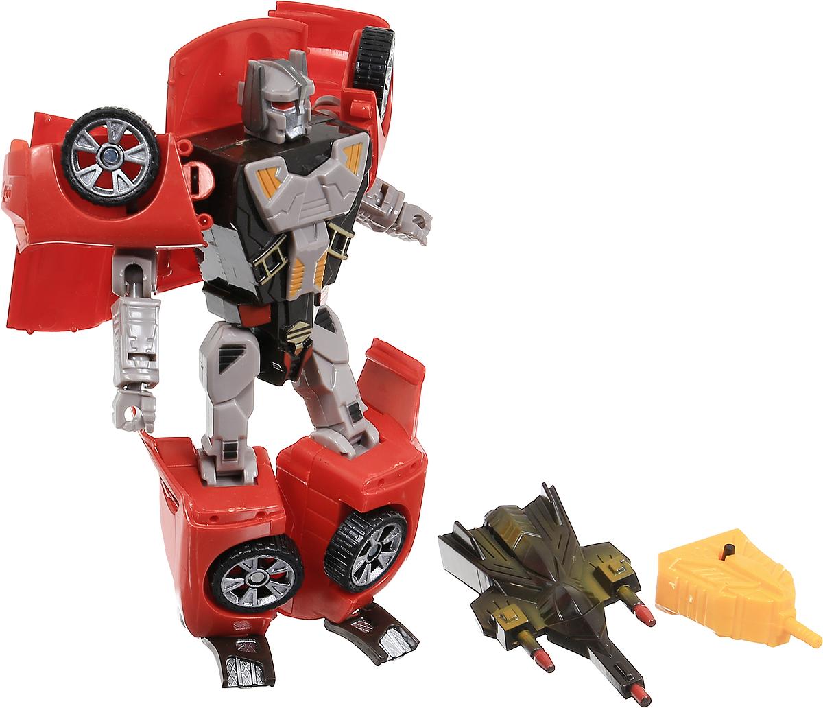 Able Star Робот-трансформер Inter Change цвет красный3832Робот-трансформер Able Star Inter Change для юных любителей техники, ведь робота можно превратить в настоящую машину. Модель трансформации не сложна, поэтому любой мальчишка справится с превращением робота в машину и наоборот. Трансформер превращается в машину красного цвета. Данная игрушка обладает световыми эффектами. В разложенном виде у робота сгибаются руки и ноги, что дает ему возможность принимать различные позы. Рекомендуется докупить 2 батарейки напряжением 1,5V типа LR41 (товар комплектуется демонстрационными).