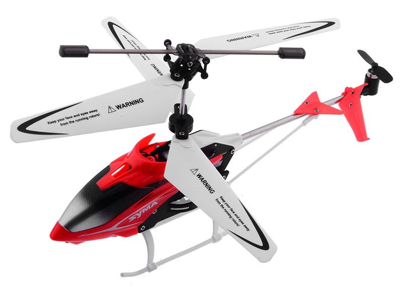 Syma Вертолет на радиоуправлении S5 цвет красныйS5 redВертолет на радиоуправлении Syma S5 с 3-канальным пультом управления - это новая модель мини вертолета от известного производителя SYMA. По летным характеристикам он сопоставим с уже известным и отлично зарекомендовавшем себя радиоуправляемым вертолетом SYMA 107G. Модель - гражданского типа, основа вертолета выполнена из металла, гибкий цветной корпус, гибкие лопасти, прочные шасси, на корпусе расположен светодиод, который делает модель более красочной. Особенностью прочности вертолета является дополнительная защита из металла основного вала с шестеренками. Вертолет подходит для детей от 14 лет, в таком возрасте ребенок самостоятельно может управлять вертолетом.