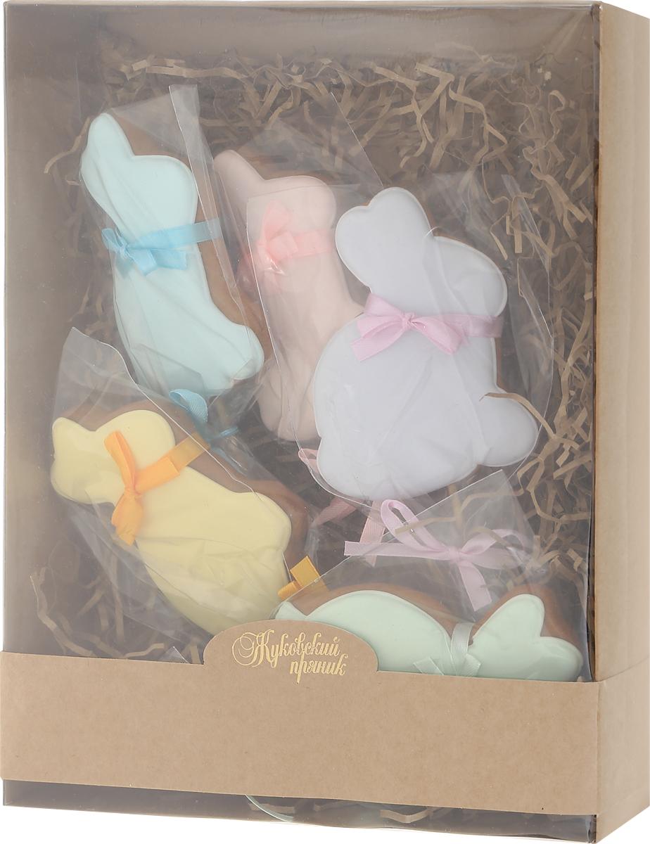 Жуковский пряник Подарочный набор Пасхальный кролик, 5 шт 200 г00-00002409Медово-имбирные пряники с росписью из айсинга. Чудесный набор пряного, медово-имбирного печенья, с романтичным, красивейшим декором , созданный специально для вас и ваших любимых! Набор таких пряничков непременно порадует ваших близких и станет отличным подарком к любому празднику! Уважаемые клиенты! Обращаем ваше внимание, что полный перечень состава продукта представлен на дополнительном изображении.