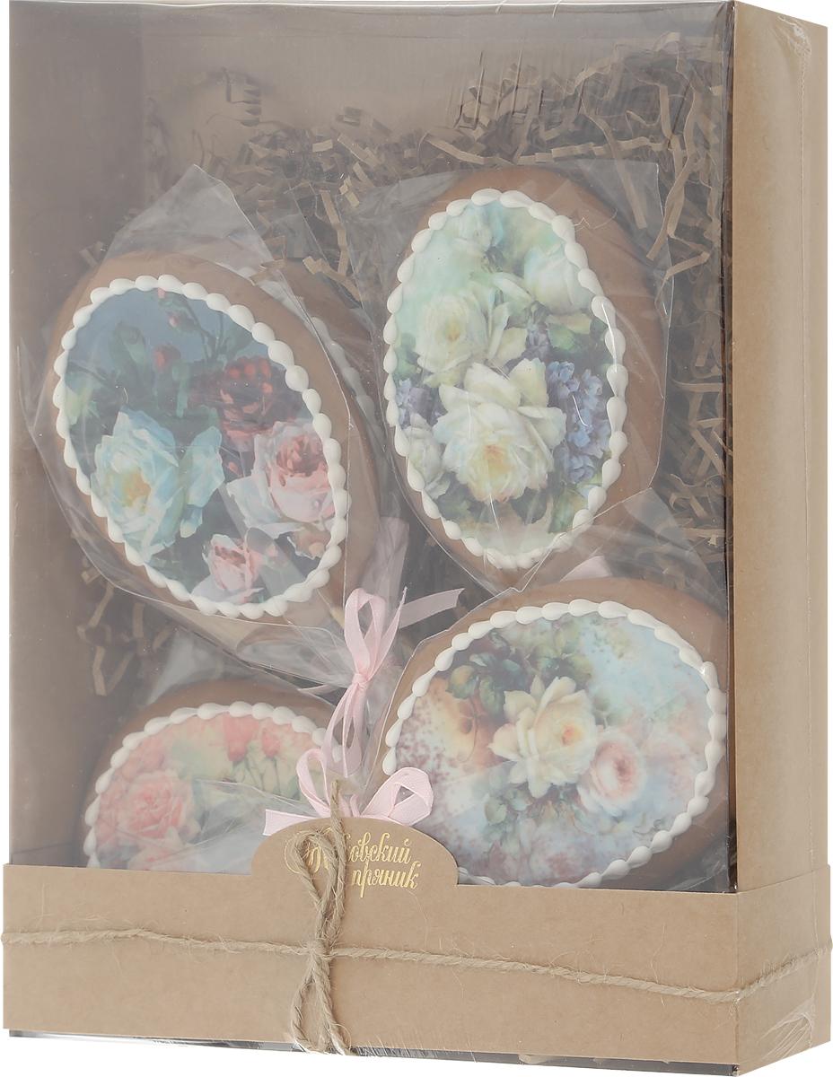 Жуковский пряник Подарочный набор Цветы и нежность, 5 шт 250 г00-00002411Медово-имбирные пряники с росписью из айсинга, фотопечатью на сахарной бумаге. Легкий, романтичный, нежный набор из пяти медово-имбирных пряников с весенним настроением! Волшебная, ручная роспись из айсинга, красивая упаковка, стильная коробочка — такой набор непременно станет чудесным подарком для близких и любимых! Уважаемые клиенты! Обращаем ваше внимание, что полный перечень состава продукта представлен на дополнительном изображении.