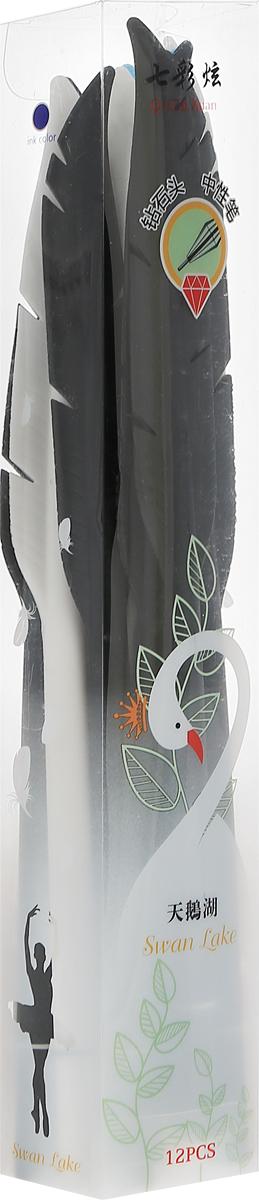 Эврика Набор ручек Swan Lake цвет корпуса голубой белый черный 12 шт96186_белый, черный, голубойОригинальный набор ручек Эврика Swan Lake в виде старинных перьев для письма, выполненных из нескользящего силикона, непременно вдохновит обладателя на написание чего-нибудь разумного, доброго, а возможно, и вечного. В наборе 12 ручек.