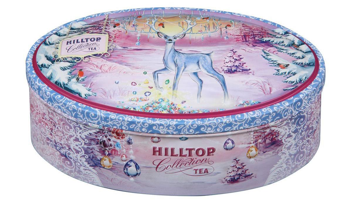 """Hilltop """"Земляника со сливками. Сказочный олень"""" чай черный листовой, 100 г"""