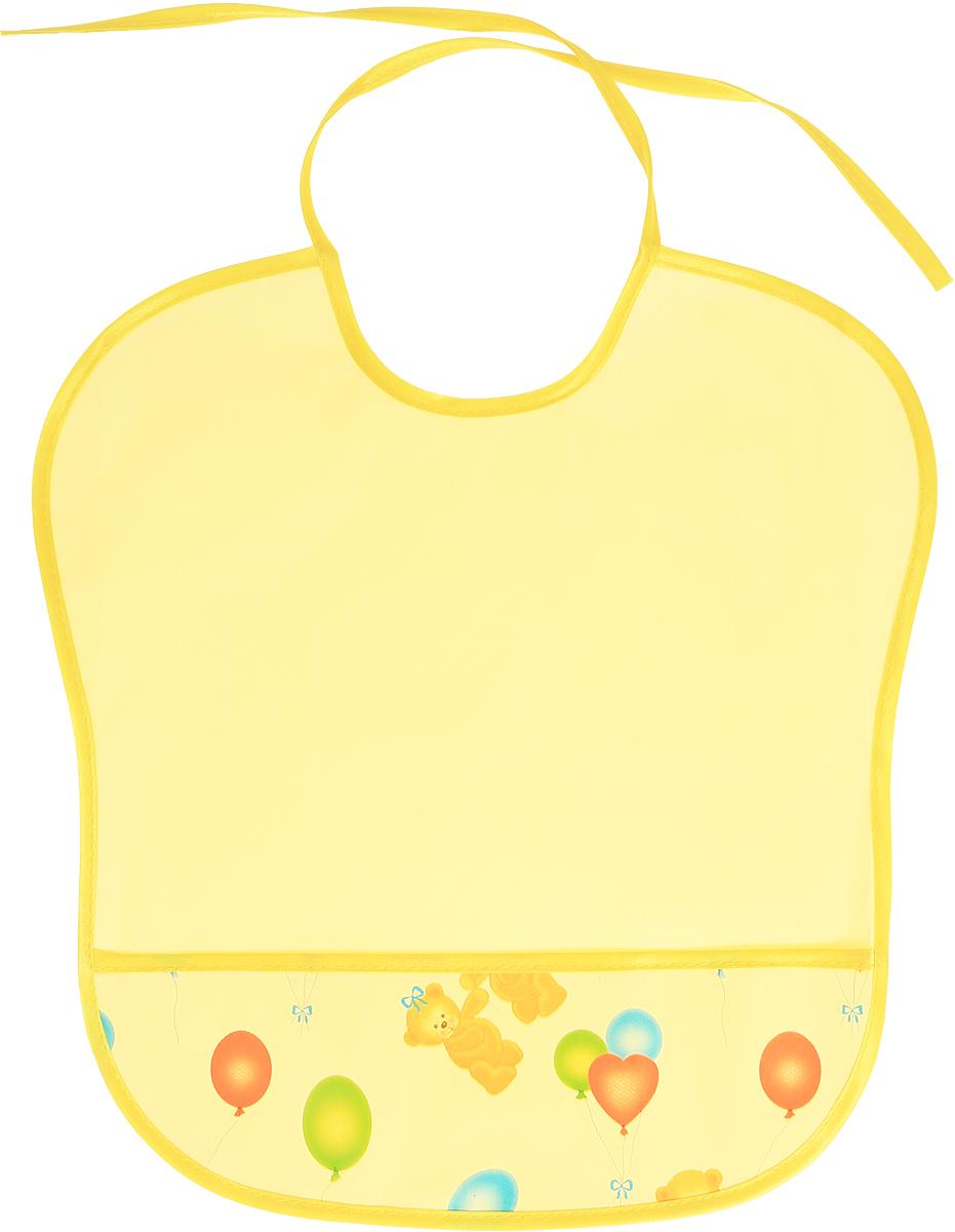 Колорит Нагрудник цвет желтый 33 х 33 см