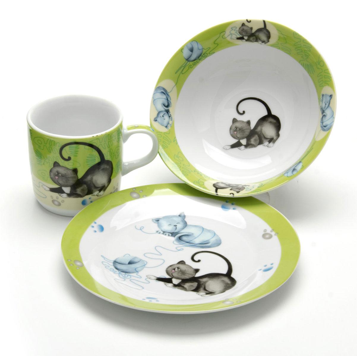 Набор детской посуды Loraine Кошка, 3 предмета26092