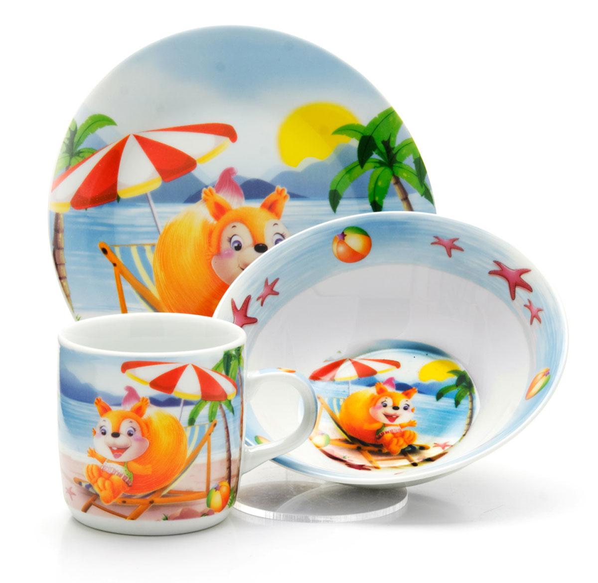 Набор детской посуды Loraine Белка, 3 предмета26095