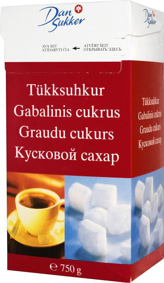 DanSukker сахар белый кусковой, 750 г
